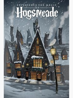 Travel Poster, an art print by Nicolas Rix Hogsmeade Travel Poster - A gallery-quality illustration art print by Nicolas Rix for sale.Hogsmeade Travel Poster - A gallery-quality illustration art print by Nicolas Rix for sale. Harry Potter Poster, Arte Do Harry Potter, Harry Potter Love, Harry Potter Fan Art, Harry Potter Universal, Harry Potter World, Harry Potter Hogwarts, Scorpius And Rose, Harry Potter Wallpaper