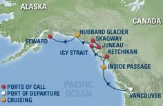 Alaska Itinerary: Flight to Bellingham (get on the Columbia - Alaska Ferry) to Ketchikan (3 hour stop) to Juneau (2 days), (get on the Fairhaven - Alaska Ferry) to Sitka (10 days), (get on the Taku - Alaska Ferry) to Kake (8 hours) and to Ketchikan (4 days), flight to Seattle.