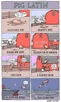 INCIDENTAL COMICS: Pig Latin  This one's for you, Parva.