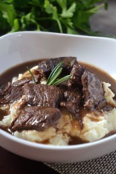 Juicy beef tips and fragrant herbs join to make this deliciously easy and savory dinner! Very few ingredients are needed! Beef Tip Recipes, Beef Tips, Beef Recipes For Dinner, Cooking Recipes, Healthy Recipes, Dump Recipes, Oven Recipes, Cooking Ideas, Crockpot Recipes