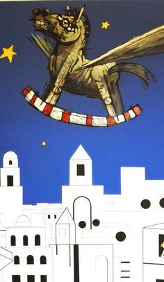 """Palacio de Villavicencio en el Alcázar de Jerez de La Frontera. Exposición """"Equus"""" del grupo """"El Arroyo"""". Palace of Villavicencio in the Alcázar de Jerez de La Frontera. Exhibition """"Equus"""" group """"El Arroyo"""""""