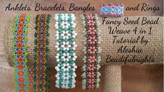 Fancy Seed Bead Weave 4 in 1 Tutorial