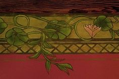 I drew and cut all the stencils for this mural then hand-painted shading, texture, and details. Eclectic Wallpaper, Bohemian Wallpaper, Art Nouveau, Art Deco, Arts And Crafts Movement, Gothic Art, Rustic Chic, Antique Art, Art