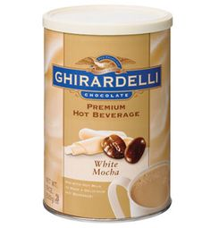 Ghirardelli Hot Chocolate Mix - White Mocha, 1 lb canister