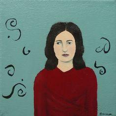 Lena original painting by Elizabeth Bauman