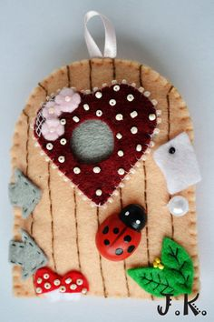 fairy door.  No instructions but this has a lot of fun ideas!