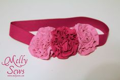 Easy Knit Flowered Headband - Melly Sews