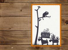 Glückwünsche - Klappkarte ALLES GUTE - ein Designerstück von catsonappletrees bei DaWanda