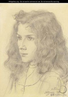 Meisjeskopje (Portrait of Jopie Jurriaan Kok) - Jan Toorop
