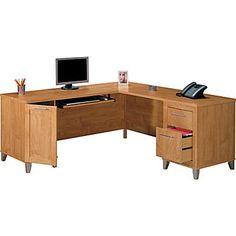 Somerset 71in. L-Desk, Maple Cross  Staples $350 desk only