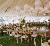 tent and balloons