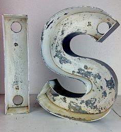 """Vintage Metal Letter """"S""""."""