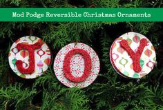 What is better than regular Christmas ornaments? Reversible Christmas ornaments! Learn how to make these with Mod Podge and this simple tutorial.