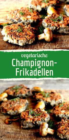 Delicious mushroom meatballs without meat-Leckere Champignon-Frikadellen ohne Fleisch Mushroom meatball! The vegetarian and quick alternative. Meat Recipes, Healthy Dinner Recipes, Vegetarian Recipes, Chicken Recipes, Vegetarian Meatballs, Burger Recipes, Sausage Recipes, Mushroom Meatballs, Mushroom Burger