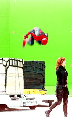 "doc-zaius: "" eric-coldfire: "" waititi: "" Tom Holland on the set of Captain America: Civil War "" Young spider shows off to momma spider who can't be bothered. "" ""Mom, are you watching? Mom! Mom! You're..."
