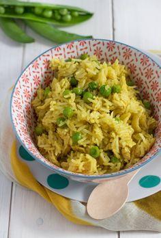 riso pollo piselli curry