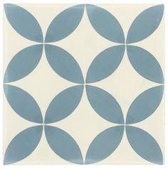 Carreau de ciment sol et mur bleu et blanc Palmette l.20 x L.20 cm #leroymerlin #carrelage #carreaudeciment #tendance #ideedeco #madecoamoi #sol #mur