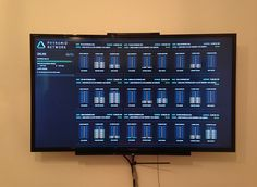 television photo with server dashboard
