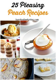 Peach recipes Galore
