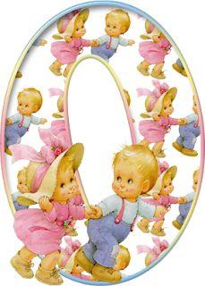 Alfabeto con Niños de Precious Moments Corriendo. | Oh my Alfabetos!