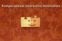 Un rompecabezas interactivo minimalista de 15 piezas #rompecabezas
