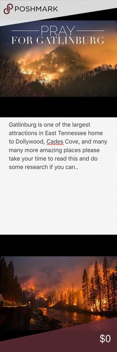I live in Tennessee and Gatlinburg is one of my favorite places. This has caused so much devistation and my heart hurts. Please help Gatlinburg. Gatlinburg Fire, Places To Travel, Places To Go, Pigeon Forge, Great Smoky Mountains, Natural Disasters, Vacation Spots, Tennessee, Cry