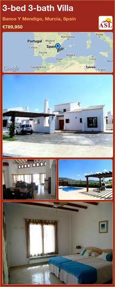 3-bed 3-bath Villa in Banos Y Mendigo, Murcia, Spain ►€789,950 #PropertyForSaleInSpain