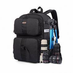 56.08$  Buy here - http://aliu7m.worldwells.pw/go.php?t=32584269546 - Professional Anti-theft Camera Photo Backpack Waterproof nylon Video Bag Case For Canon Nikon Digital SLR DSLR Cameras LI-973