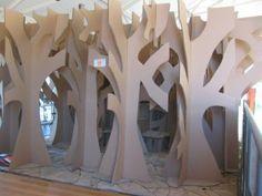 3D Cardboard Tree | cardboard Tree Maze cubby house 2