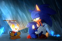 by on DeviantArt- C'mon, Omochao, don't scare the poor wittle Sonic chao Sonic The Hedgehog, Shadow The Hedgehog, Sonic And Amy, The Sonic, Marshmello Wallpapers, Sonic Funny, Sonic Heroes, Sonic Adventure, Sonic Fan Characters