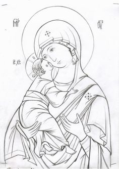 www.alipiy.ru 106 Cute Cartoon Drawings, Cartoon Icons, Religious Icons, Religious Art, Writing Icon, Coloring Books, Coloring Pages, Paint Icon, Illumination Art