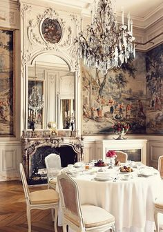 The fashionable life, dining at Hôtel de Charost, Paris