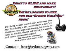 Shaping The Verde Valley: We're looking to hire for our Spring Rush....