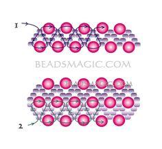 free-beading-bracelet-tutorial-2  pearl beads 6 mm  seed beads 11/0 �