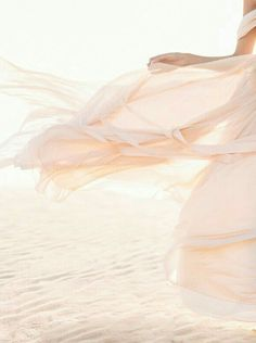 Billowing blush gown. #wind #billowy #billowing