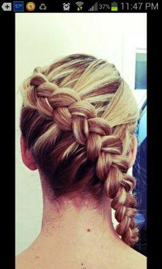 French braid? Sideways