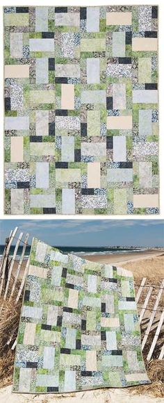 SARATOGA BALI QUILT ~ nice looking quilt pattern, with using gentle hues of the season into a super-simple block. This is very versatile for any season or reason!