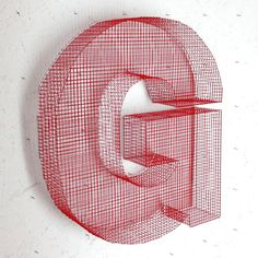 Letter G decorative mesh by LaFabriquealettres on Etsy, €39.00