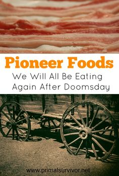 Pioneer Foods We Will All Be Eating Again After Doomsday. How the pioneers ate is one of the most fascinating aspects of their life. It gives you insight into how creative and hard-working they were in their endeavors to sustain their families in tough s Survival Food, Homestead Survival, Outdoor Survival, Survival Prepping, Survival Skills, Emergency Preparedness, Prepper Food, Emergency Preparation, Bushcraft Skills
