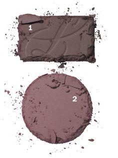 Matte Mauve All Over:  1. Estée Lauder Pure Color EyeShadow in Provocative Plum  2. Lancôme Color Design Sensation Effects Eye Shadow in Sultry Mauve Matte - Fall 2012