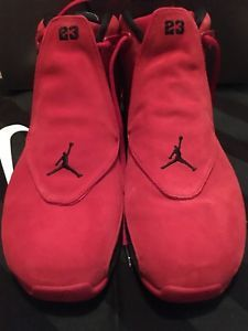 best service ed733 9b272 Limited Dead Stock Nike Air Jordan 18 Retro Toro Red Suede Shoes From Nike .com