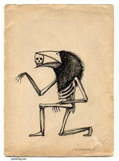 Bird Skeleton, via Etsy.