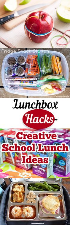 Lunch ideas lunchbox hacks back to school ideas creative school lunches recipes lunches for kids popular pin school lunch Cold Lunches, Lunch Snacks, Lunch Recipes, Healthy Snacks, Healthy Recipes, Kid Snacks, Detox Recipes, Healthy Kids, Creative School Lunches