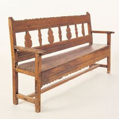 200-year-old pine bench