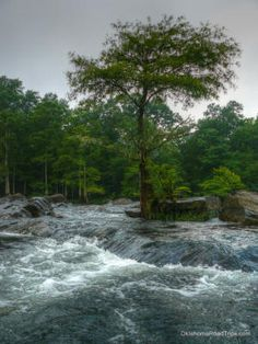 Lower Mt. Fork River in Broken Bow, Oklahoma. Class II Water all summer long.