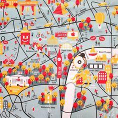 Crumpled City Maps, Junior London.