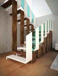 Home Stairs Design, Railing Design, Interior Stairs, Modern House Design, Home Interior Design, Stair Design, Staircase Design Modern, Stairs Architecture, Interior Architecture