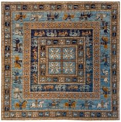 Area Rug: Hope, Marine Blue