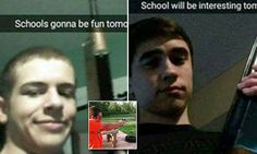 Instagram posts of Marcus Ortwine and Glenn Deuster arrested for 'high school terror threats' | Daily Mail Online