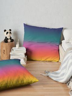 vibrant and fantasy colorful gradient effect visit my shop for more. Gradient Design, Gradient Color, Color Pop, Skin Colors, Vibrant Colors, Colours, Colorful, Designer Pillow, Pillow Design